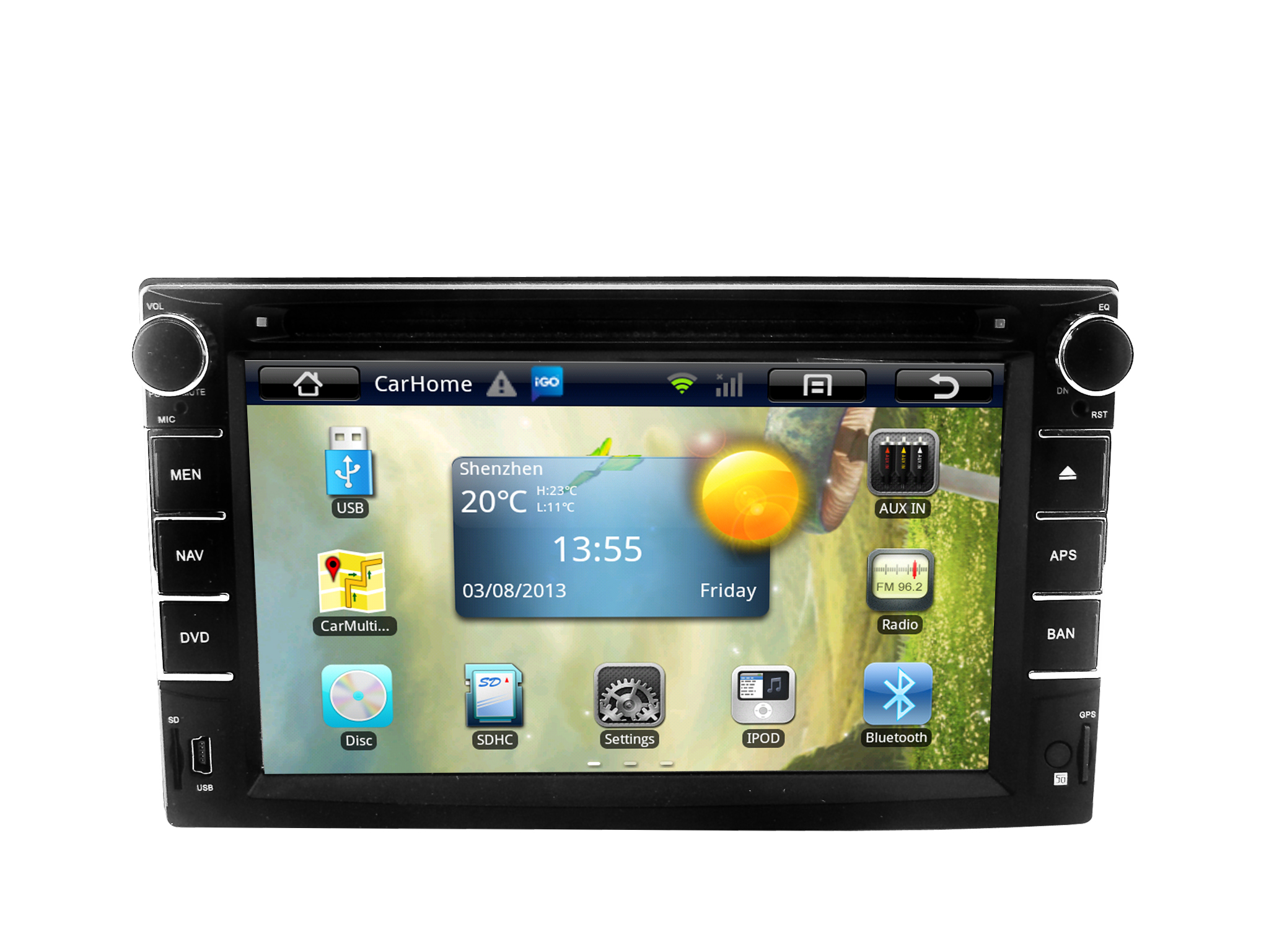 Single 1 din universal android 51 car radio audio stereo 4 core 101 inch screen hd capacitive gps navigation system